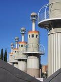 Βιομηχανικό πάρκο Βαρκελώνη Στοκ φωτογραφία με δικαίωμα ελεύθερης χρήσης