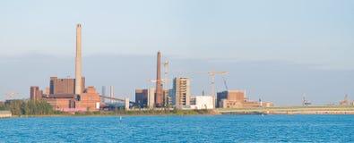 βιομηχανικό πανόραμα Στοκ Εικόνες