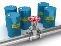 Βιομηχανικό πετρέλαιο βαλβίδων και μηχανών Στοκ Εικόνα