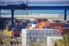 Βιομηχανικό σκάφος φορτίου φορτίου εμπορευματοκιβωτίων για τη για την διοικητική μέριμνα αντίληψη εισαγωγής-εξαγωγής Στοκ Εικόνες
