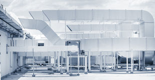 Βιομηχανικό σύστημα εξαερισμού αέρα Στοκ φωτογραφίες με δικαίωμα ελεύθερης χρήσης