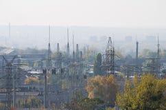 Βιομηχανικό τέταρτο μια άποψη φθινοπώρου Στοκ φωτογραφία με δικαίωμα ελεύθερης χρήσης