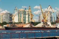 Βιομηχανικό τοπίο πόλεων Στοκ Εικόνες