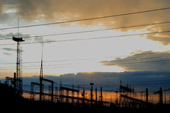 βιομηχανικό τοπίο Στοκ Φωτογραφία