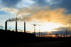 βιομηχανικό τοπίο Στοκ Εικόνες