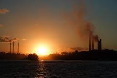 βιομηχανικό τοπίο Στοκ φωτογραφία με δικαίωμα ελεύθερης χρήσης