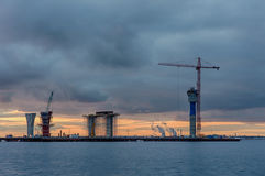 βιομηχανικό τοπίο Στοκ εικόνες με δικαίωμα ελεύθερης χρήσης
