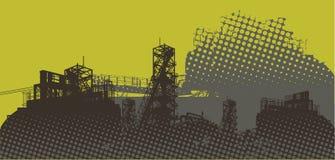 βιομηχανικό τοπίο ελεύθερη απεικόνιση δικαιώματος