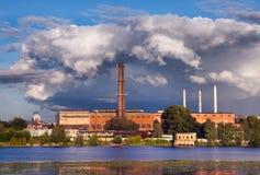 βιομηχανικό τοπίο Στοκ εικόνα με δικαίωμα ελεύθερης χρήσης