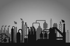 Βιομηχανικό υπόβαθρο εργοστασίων ελεύθερη απεικόνιση δικαιώματος