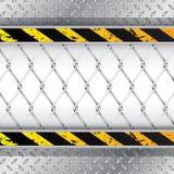 Βιομηχανικό υπόβαθρο με το συνδεμένο με καλώδιο φράκτη ελεύθερη απεικόνιση δικαιώματος