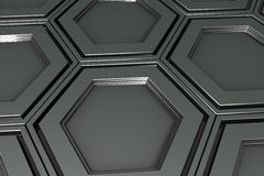 Βιομηχανικό υπόβαθρο φιαγμένο από hexagons μετάλλων Στοκ εικόνες με δικαίωμα ελεύθερης χρήσης