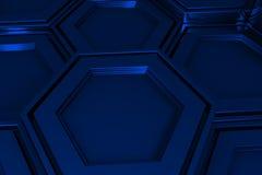 Βιομηχανικό υπόβαθρο φιαγμένο από hexagons μετάλλων Στοκ Εικόνες