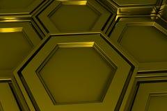 Βιομηχανικό υπόβαθρο φιαγμένο από hexagons μετάλλων Στοκ Φωτογραφίες