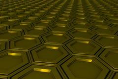 Βιομηχανικό υπόβαθρο φιαγμένο από hexagons μετάλλων Στοκ φωτογραφίες με δικαίωμα ελεύθερης χρήσης