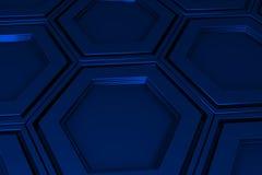 Βιομηχανικό υπόβαθρο φιαγμένο από hexagons μετάλλων Στοκ φωτογραφία με δικαίωμα ελεύθερης χρήσης
