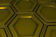 Βιομηχανικό υπόβαθρο φιαγμένο από hexagons μετάλλων Στοκ Εικόνα