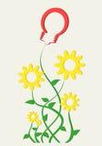 βιομηχανικό watercolor φυτών μελανιού τέχνης Στοκ εικόνες με δικαίωμα ελεύθερης χρήσης