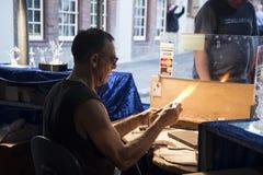 Βιοτέχνης κατασκευαστών γυαλιού Στοκ εικόνα με δικαίωμα ελεύθερης χρήσης