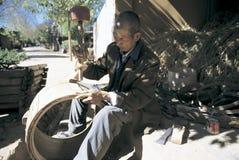 Βιοτέχνης στη νοτιοδυτική Κίνα Στοκ Εικόνα