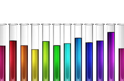 Βιοτεχνολογία τεχνολογίας - χημική ουσία - έρευνα - σωλήνας δοκιμής - τρισδιάστατος Στοκ Εικόνα