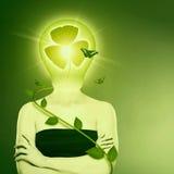Βιο έννοια προστασίας ενέργειας και eco. Στοκ Εικόνες