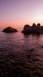 βιολέτα ηλιοβασιλέματος Στοκ Εικόνα