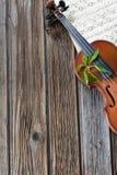 βιολί εγγράφου μουσικής Στοκ Φωτογραφία