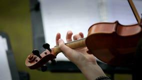 Βιολί παιχνιδιού μουσικών στην οδό φιλμ μικρού μήκους
