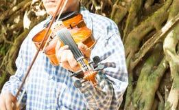 Βιολί παιχνιδιού Στοκ Εικόνες