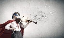 Βιολί παιχνιδιού Superkid Στοκ Φωτογραφία