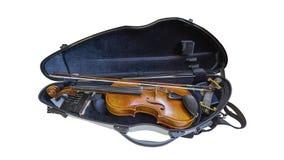Βιολί σε περίπτωση κιβωτίων Στοκ Εικόνες