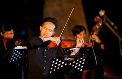 Βιολί στη συναυλία στοκ εικόνα