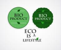 Βιο γραμματόσημα προϊόντων Απεικόνιση αποθεμάτων