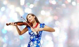 Βιολιστής γυναικών Στοκ Εικόνα