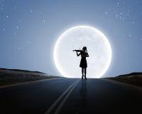 Βιολιστής γυναικών Στοκ Φωτογραφίες