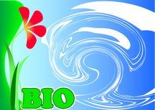 βιο λουλούδι διανυσματική απεικόνιση