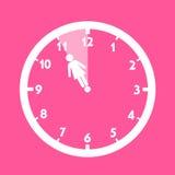 Βιολογικά ρολόγια της γυναίκας διανυσματική απεικόνιση