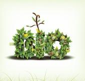 βιο φιλικό διάνυσμα eco σχε&de Στοκ Φωτογραφία