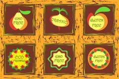 Βιο φυσικός eco λογότυπων ελεύθερη απεικόνιση δικαιώματος