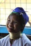 Βιρμανίδα Giraffe λίγος-γυναίκα στοκ εικόνες