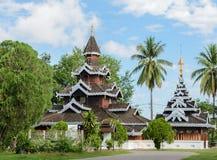 Βιρμανός ξύλινος ναός στο γιο της Mae Hong, Ταϊλάνδη Στοκ Εικόνες