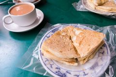 Βιρμανός τσάι και NA ` γάλακτος Στοκ εικόνα με δικαίωμα ελεύθερης χρήσης