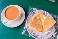 Βιρμανός τσάι και NA ` γάλακτος Στοκ Φωτογραφία