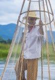 Βιρμανός ψαράς στη λίμνη inle Στοκ φωτογραφία με δικαίωμα ελεύθερης χρήσης