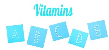 Βιταμίνες στοκ εικόνες