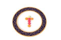 βιταμίνη πιάτων Στοκ εικόνα με δικαίωμα ελεύθερης χρήσης