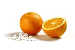 βιταμίνη πορτοκαλιών γ Στοκ Φωτογραφία