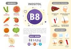 Βιταμίνη B8 Infographics ελεύθερη απεικόνιση δικαιώματος