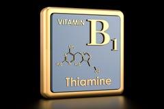 Βιταμίνη B1, thiamine τρισδιάστατος απεικόνιση αποθεμάτων